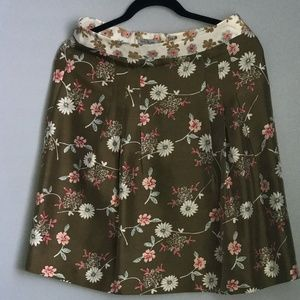 Mac and Jac Silk Floral Skirt With Front Pleats